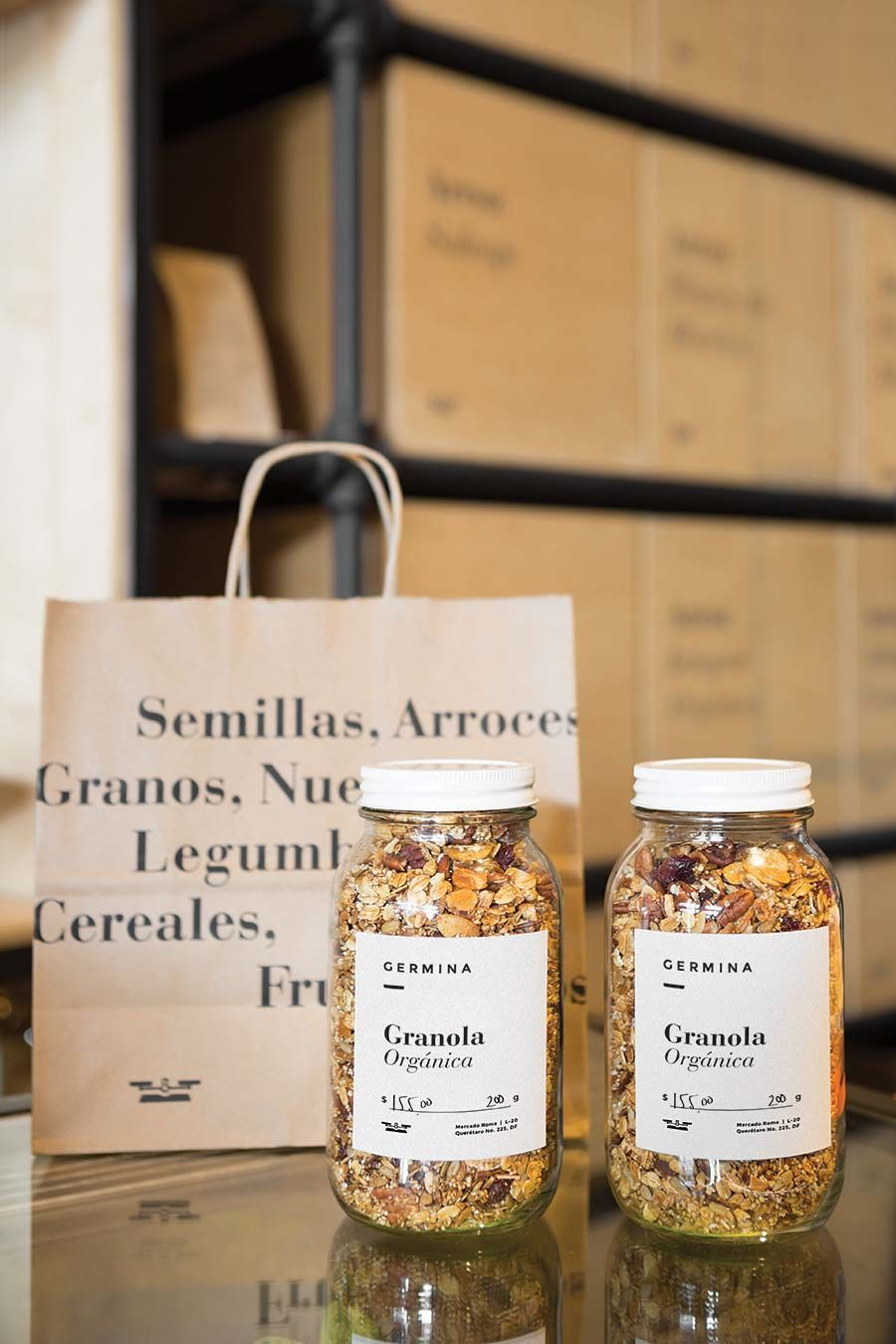 Germina visual identity - designed by Savvy Studio is part of Bakery packaging - Food packaging d
