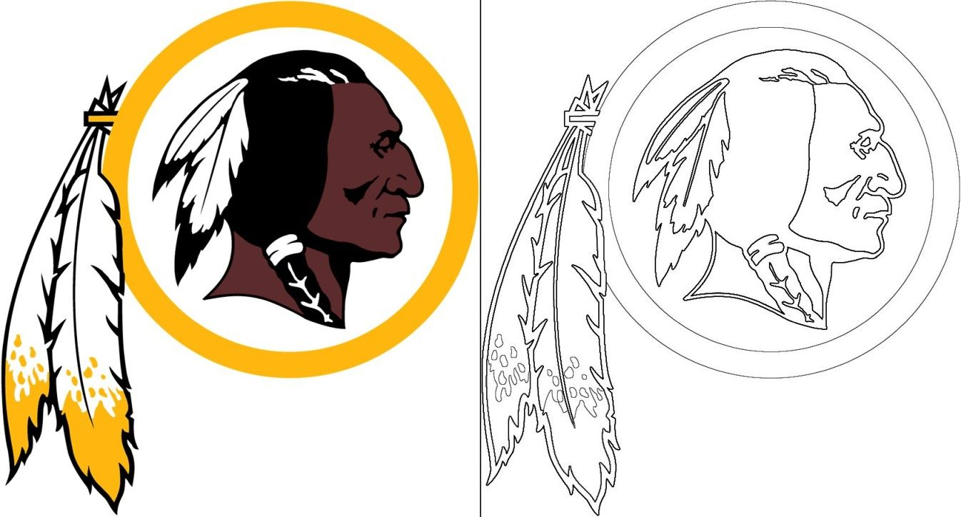 Redskins Logo Coloring Page In 2020 Redskins Logo Washington