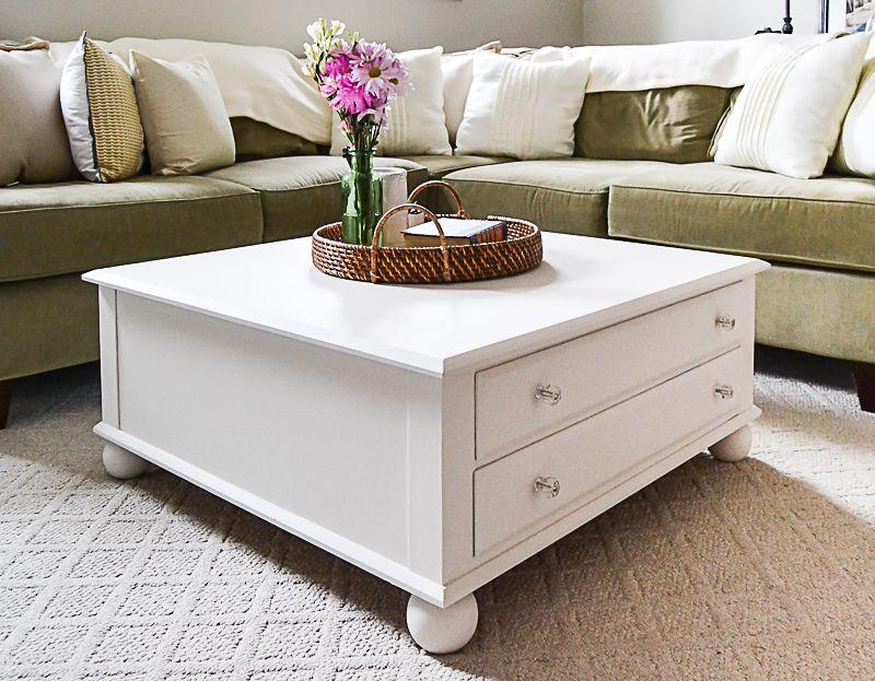 Large square coffee table makeover cheap home decor