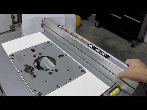 Ridgid r4513 contractors table saw router table insert fence ridgid r4513 contractors table saw router table insert fence youtube keyboard keysfo Gallery