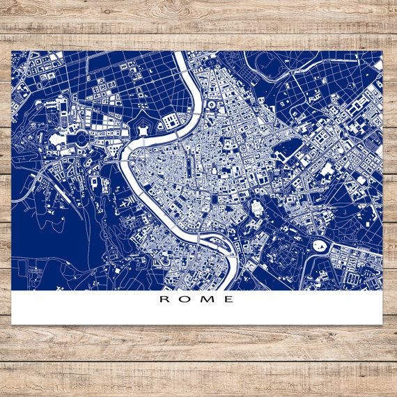 Rome print featuring the beautiful europe city of rome italy also rome print featuring the beautiful europe city of rome italy also includes the vatican city find your favourite places on this blueprint style rome map gumiabroncs Images
