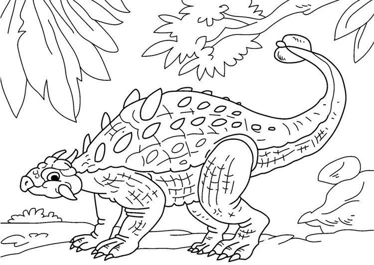Coloring Page Dinosaur Ankylosaurus Img 27630 Malvorlage Dinosaurier Ausmalbilder Dinosaurier Ausmalbilder