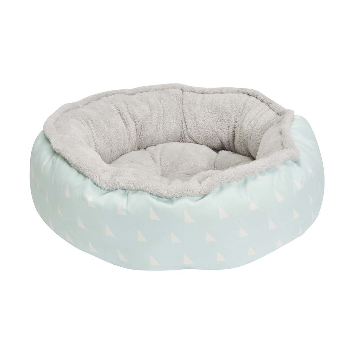 Best Round Plush Pet Bed Triangle Print Small Kmart 400 x 300