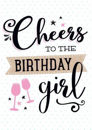Verjaardagskaart Cheers Girl Verjaardag Pinterest Feliz