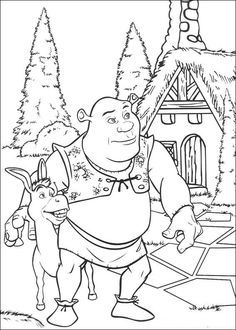 coloring page Shrek Shrek Coloring Pages Pinterest Shrek