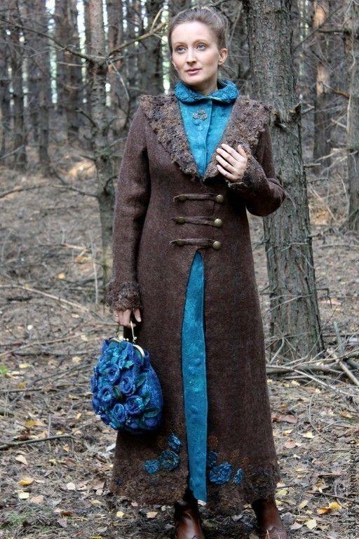 Верхняя одежда ручной работы. Ярмарка Мастеров - ручная работа. Купить  Пальто с имитацией платья