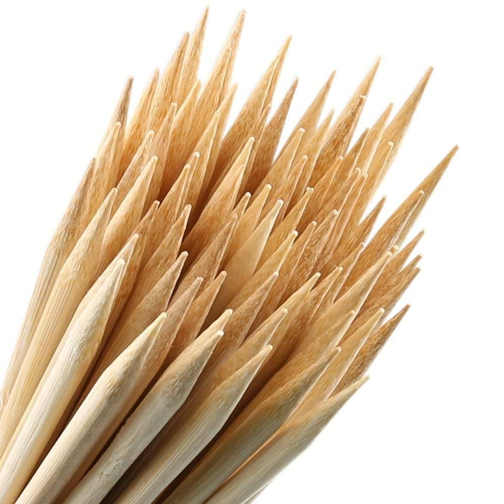 Bamboo Skewers Wooden Sticks Grill Shish Kabob Barbecue
