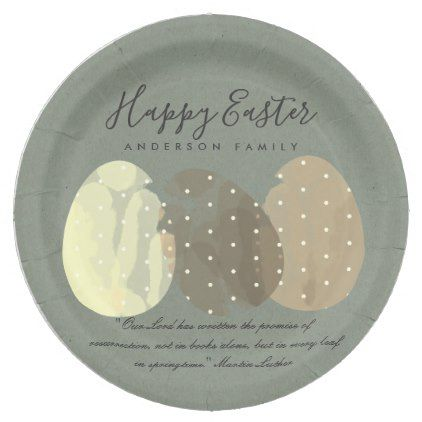 Modern zen grey watercolor easter eggs personalize paper plate modern zen grey watercolor easter eggs personalize paper plate elegant wedding gifts diy accessories ideas negle Image collections