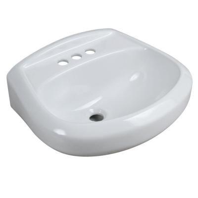 Glacier Bay Petite Aragon 8 3 8 In Pedestal Sink Basin In White F