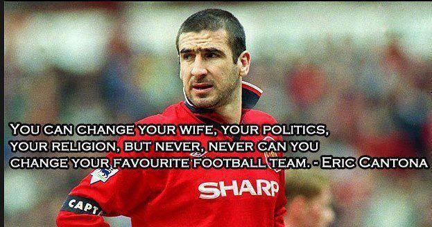 Eric Cantona Epic Qoute Eric Cantona Manchester United Football Club Football Quotes
