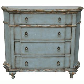 distressed blue furniture. Hand-painted Distressed Blue/Green Accent Chest Blue Furniture 0
