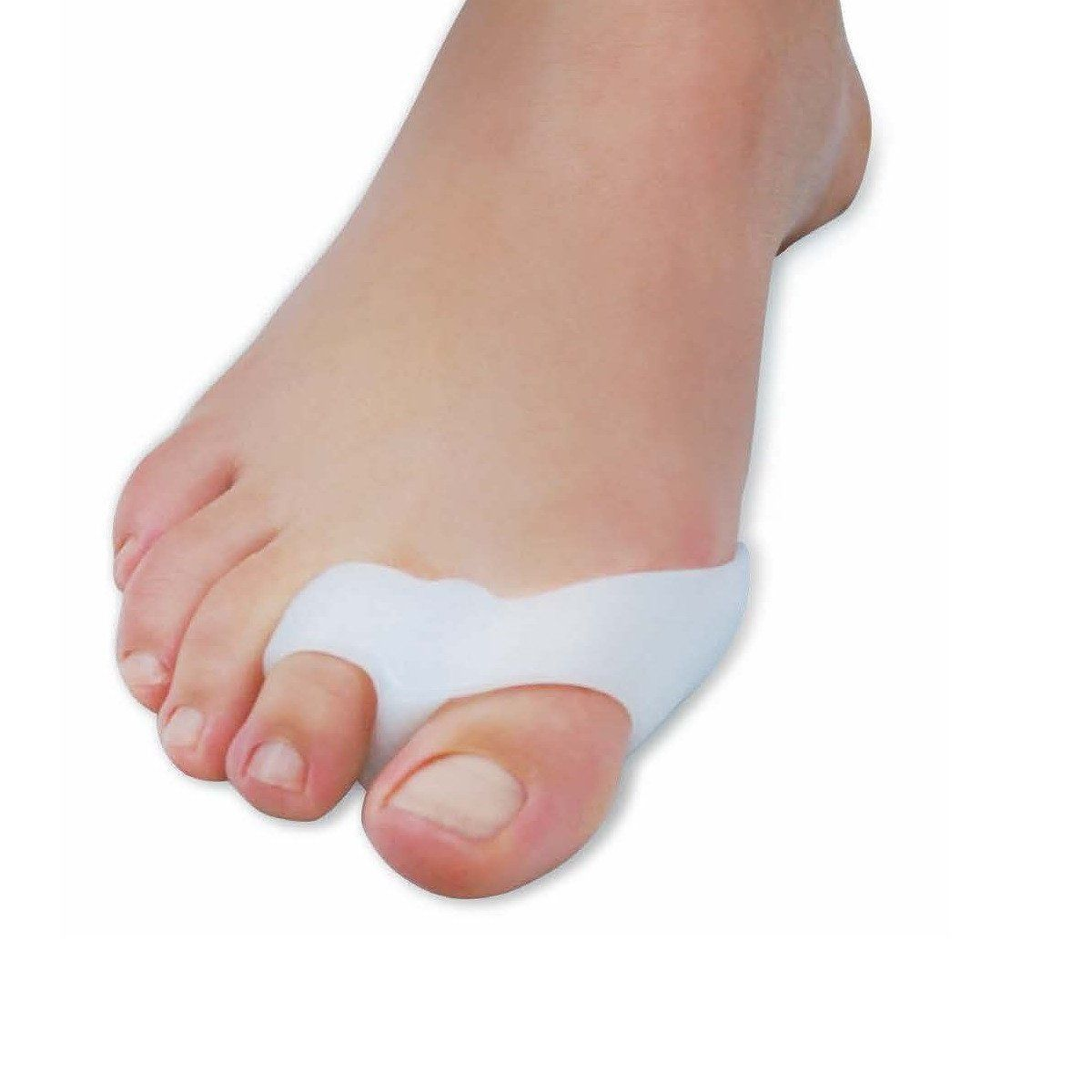 Double Loop Bunion Protector with Attached Separator Toe