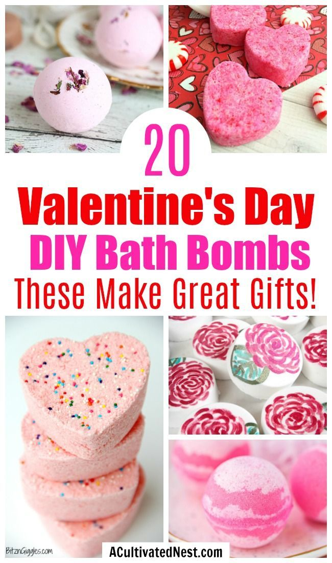 20 DIY Valentine's Day Bath Bombs- A Cultivated Ne