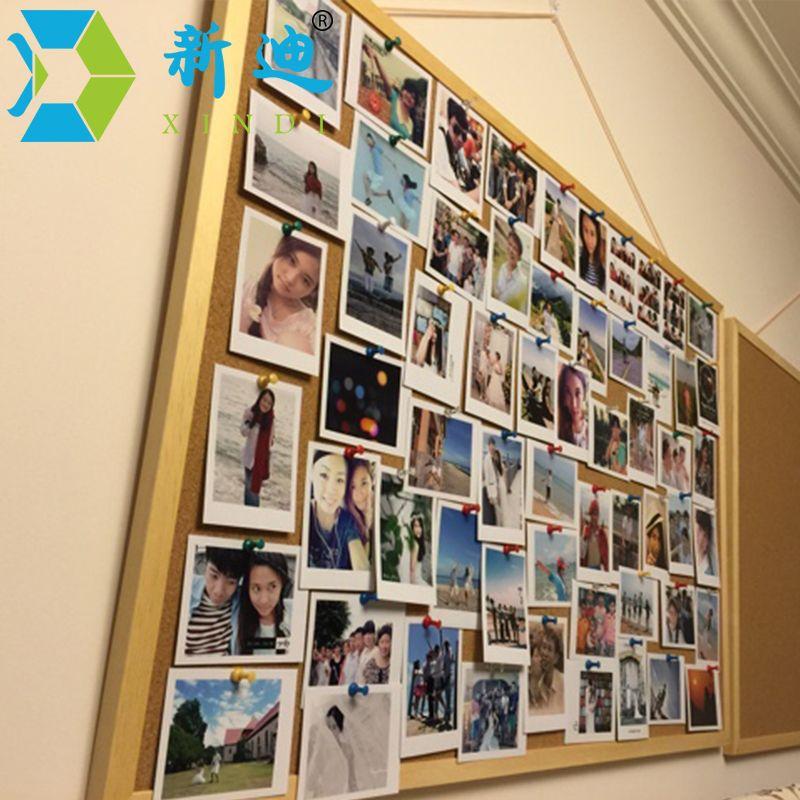new wooden frame cork bulletin board notice push pin boards office supplier 4060cm