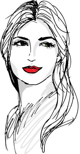 Royalty Free Illustrations Girl Drawing Images Female Face Drawing Cool Drawings