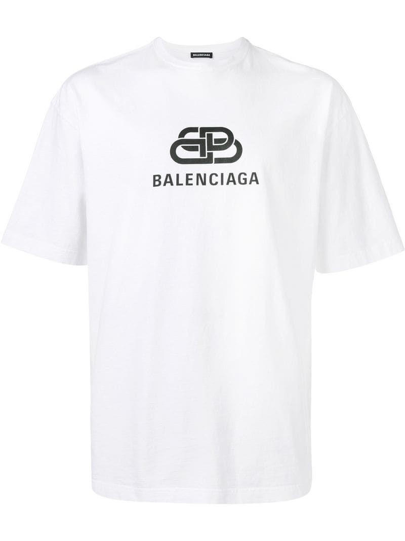 Balenciaga Bb Balenciaga T Shirt White Balenciaga T Shirt Shirts Balenciaga Shirt