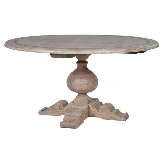 Regal Grey Wash Round Dining Table Dining Table Luxury Dining