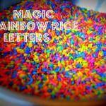 {Play} Magic Rainbow Rice Letters | The Outlaw Mom (TM) Blog
