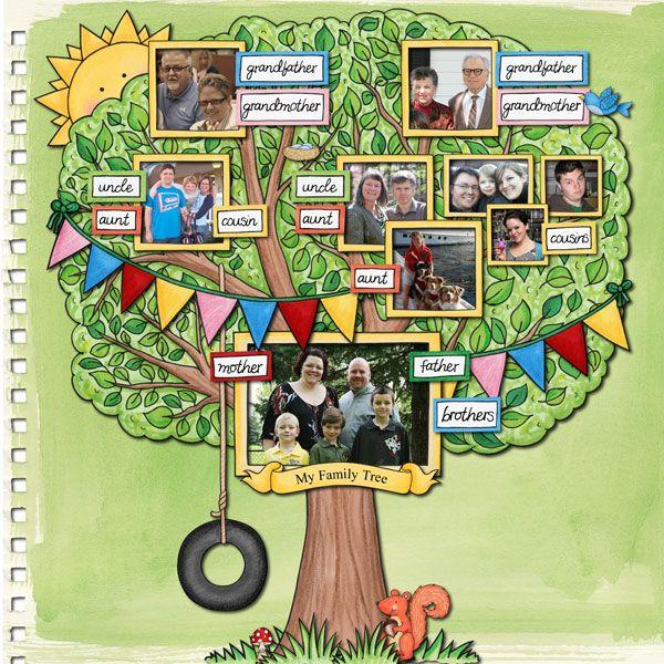 My Family Tree Family Tree Project Family Tree Craft Family Tree For Kids