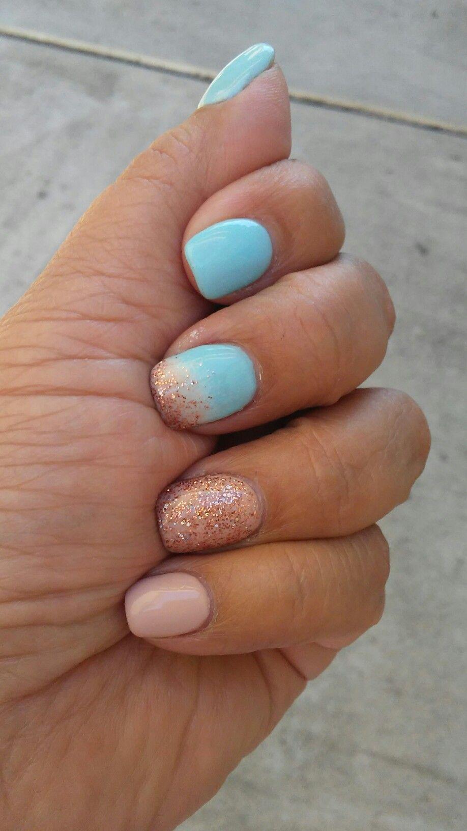 Beach Inspired Nails Love The Colors Beach Nail Designs Nails