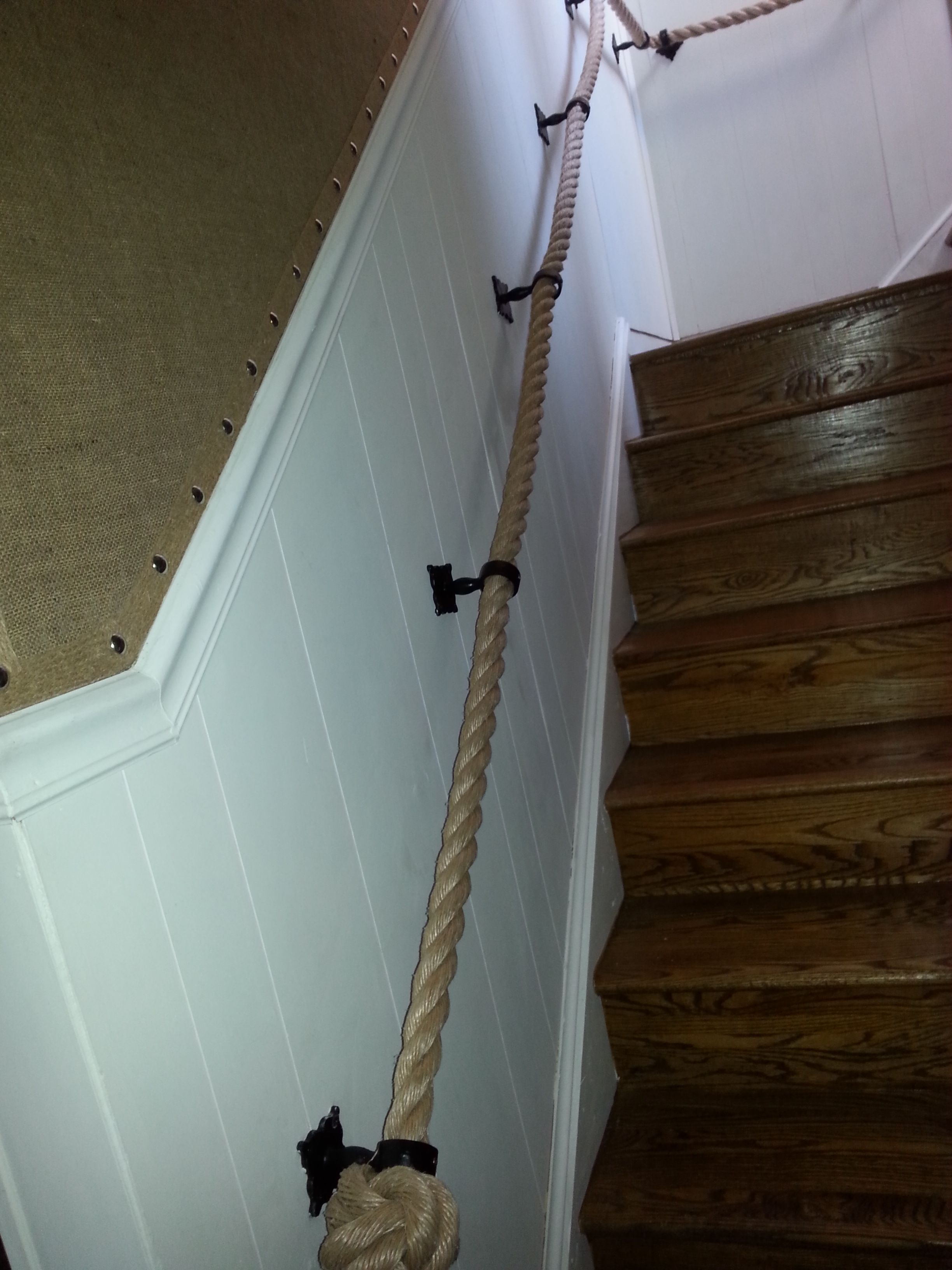 Best Rope Handrail Burlap Wallpaper Countrustical Design 640 x 480