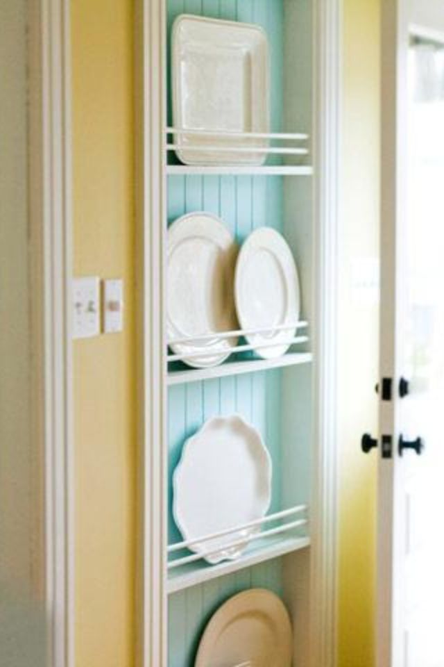 Built-ins for dishes! <3 | Home Inspiration | Pinterest | Dishes ...