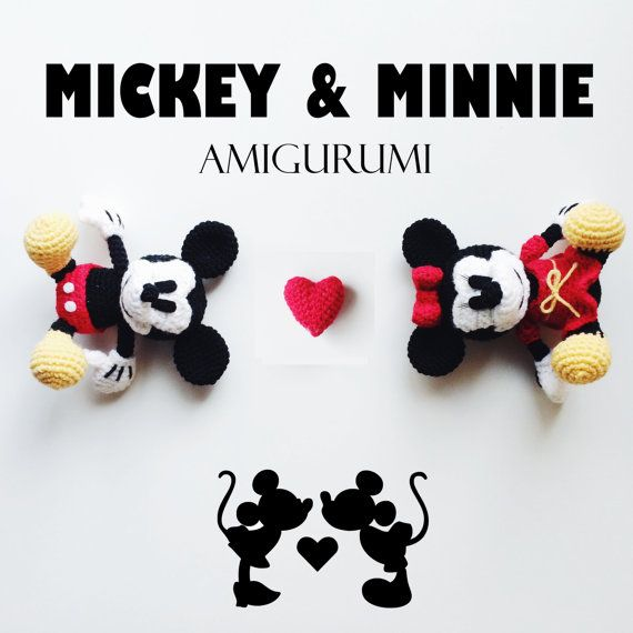 Mickey & Minnie Mouse Amigurumi Crochet Pattern PDF | Mickey minnie ...