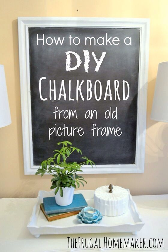 How To Make A Diy Chalkboard Recipe Picture Frame Crafts Diy Chalkboard Picture Frame Chalkboard