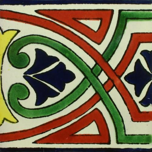 traditional mexican border tile - california | traditionell ... - Weie Fliesen Bordre