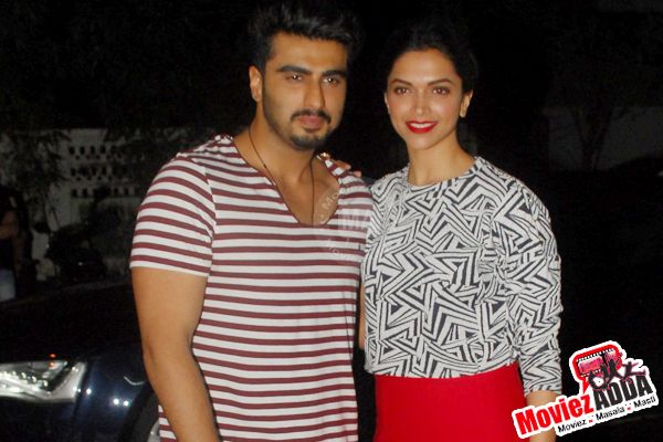 Deepika Padukone and Arjun Kapoor at Finding Fanny special screening