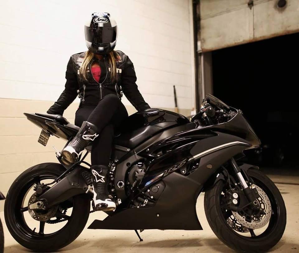 Yamaha r6 black car motorcycle pinterest yamaha r6 for Yamaha motorcycles for women