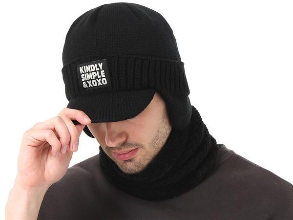 79fba194bdb chicmaxonline Winter Hat Scarf Skullies Beanies For Men Knitted Hat Women  Mask Thick Balaclava Earflap Wool Bonnet Male Beanie Hats Cap