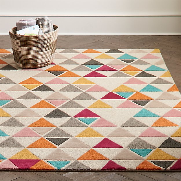 4 X 6 Triangle Rug Reviews Crate And Barrel In 2020 Triangle Rug Crate And Barrel Rugs Rugs On Carpet