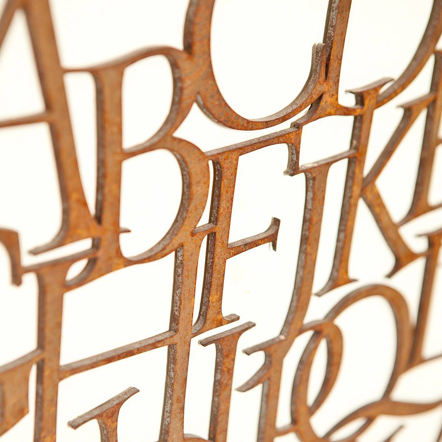 Metal Alphabet Letters For Wall Unique Homepage  Wild Ink  Rusty Metal Alphabet Letter Sign Rusty Metal 2017