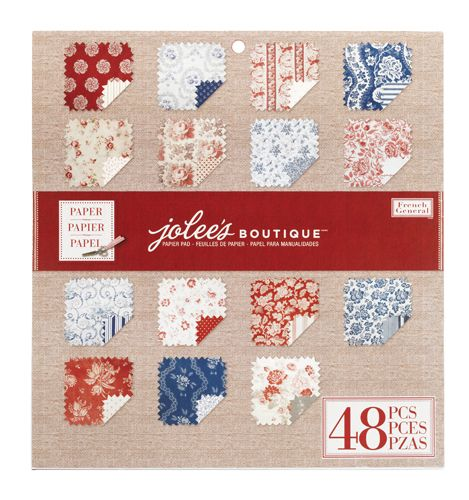 EK Success - Jolee's Boutique - French General Collection - 12 x 12 Paper Pad - Red at Scrapbook.com $19.99