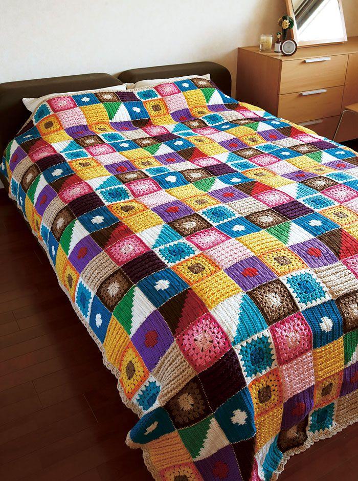 Kukka Bedspread Crochet Blanket | CROCHET | Pinterest | Häkeln