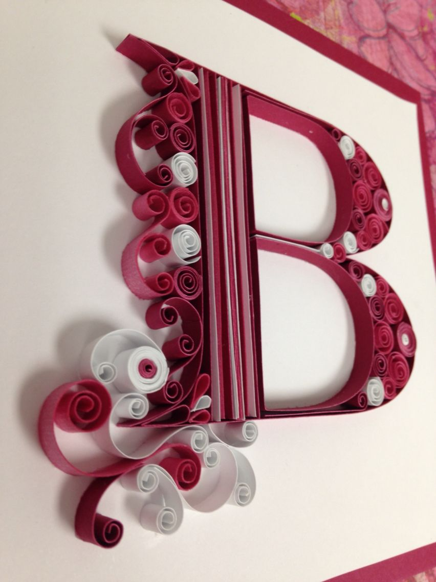 Letter B Quilling Quilling Letters Quilling Cards Design Quilling Paper Craft