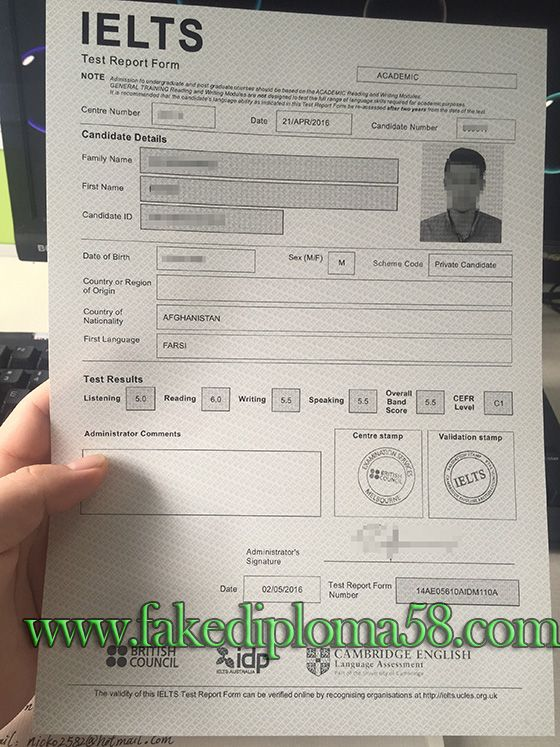 IELTS transcript, fake IELTS transcript, buy fake IELTS