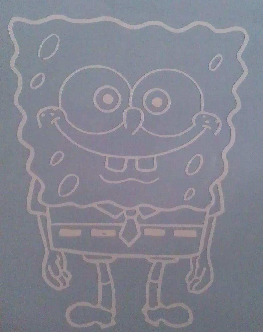 Spongebob Squarepants Vinyl Car Window Decal H X W ANY - Spongebob decals for cars
