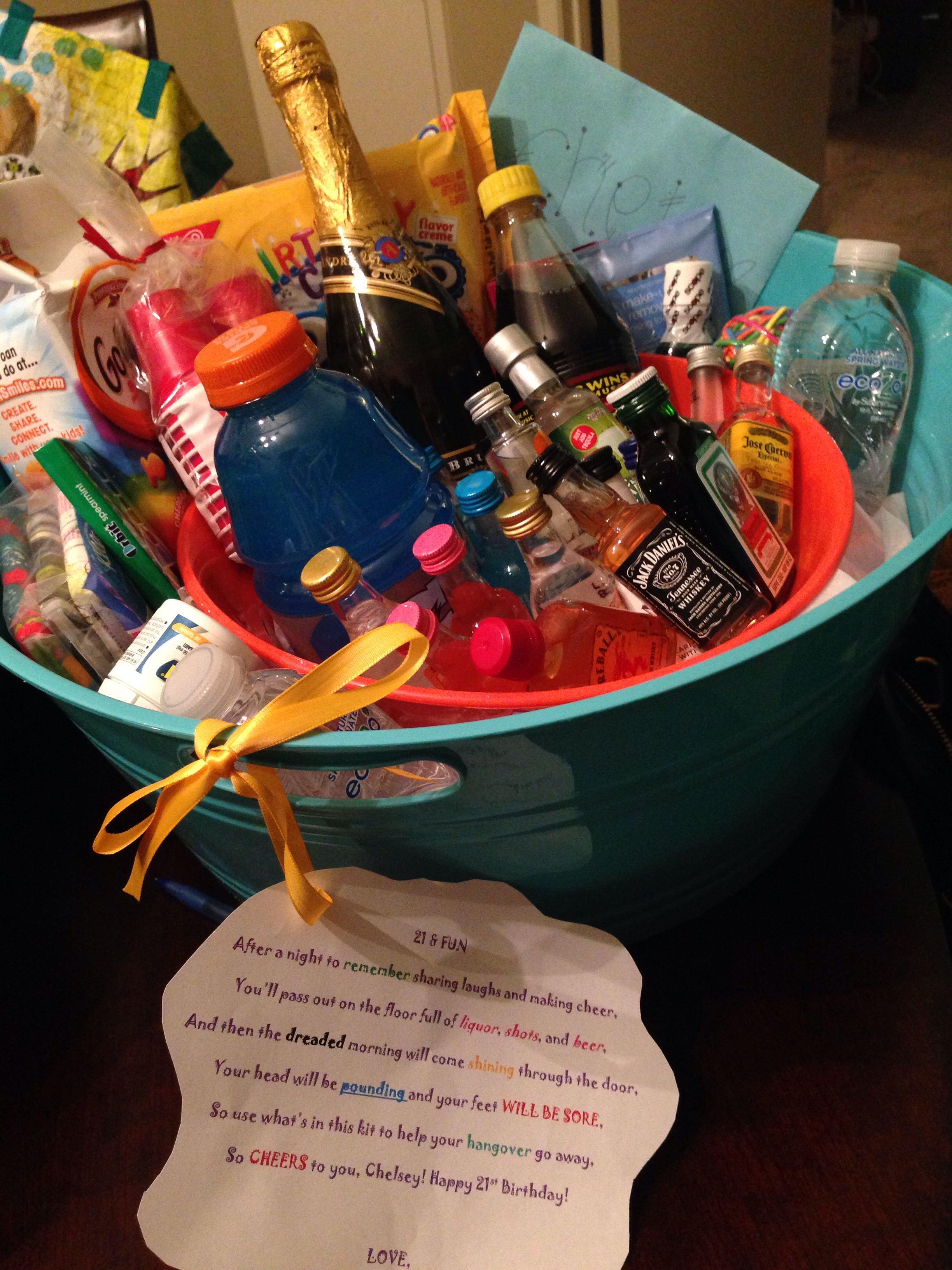 Pin By Samantha Holt On Gifts For The Guys And Gals Hangover Kit 21st Birthday 21st Birthday Good Birthday Presents