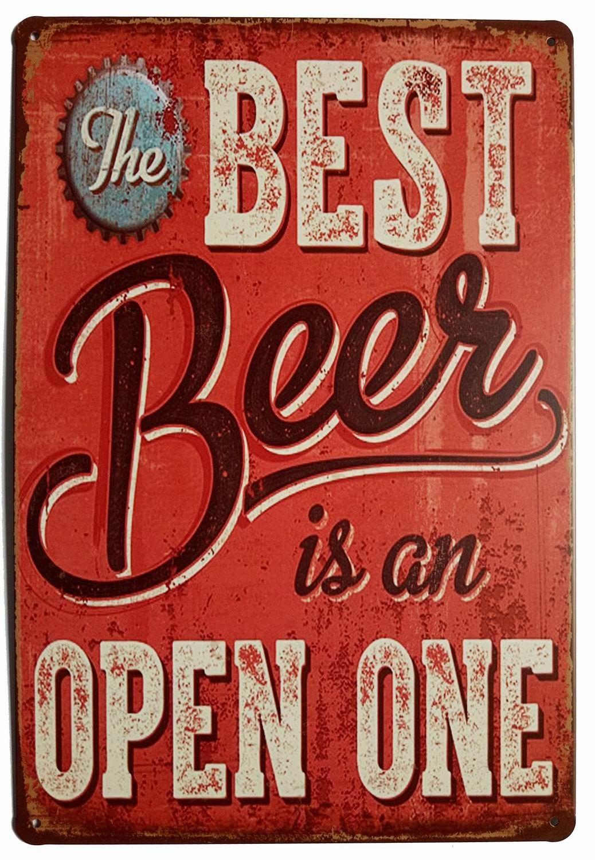 Vintage Metal Tin Signs Beer Making You Feel Single Bar Home Pub Wall Decor