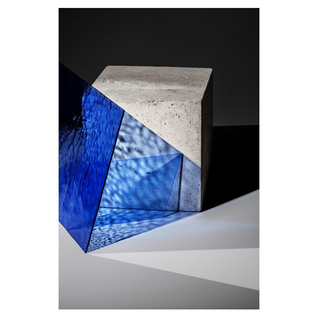 Shades Of Blue Glass And Concrete In 2020