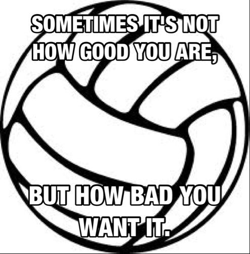 Volleyball..... So like when our team went to sectionals