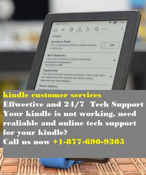 The kindle customer service is available just a call away