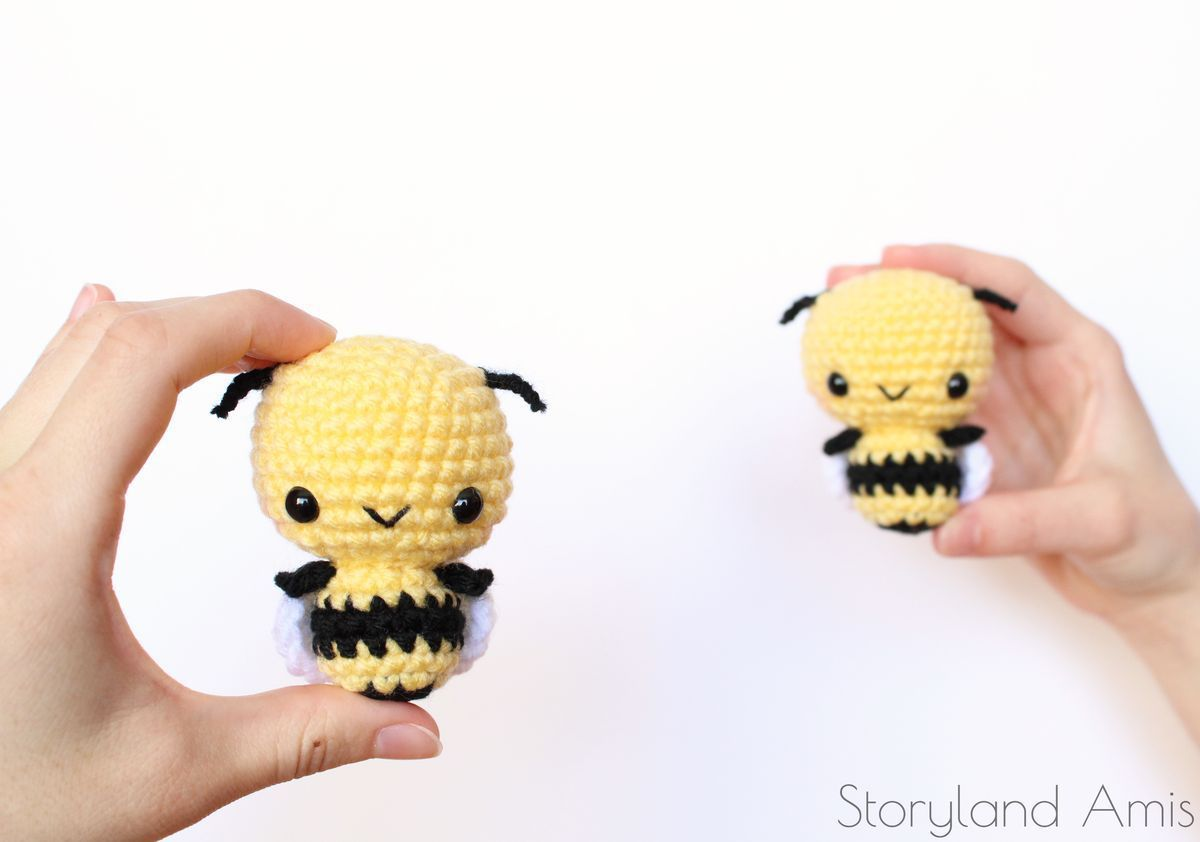 Free Pattern: Burt the Baby Honey Bee en 2018 | Crochet Eventually ...