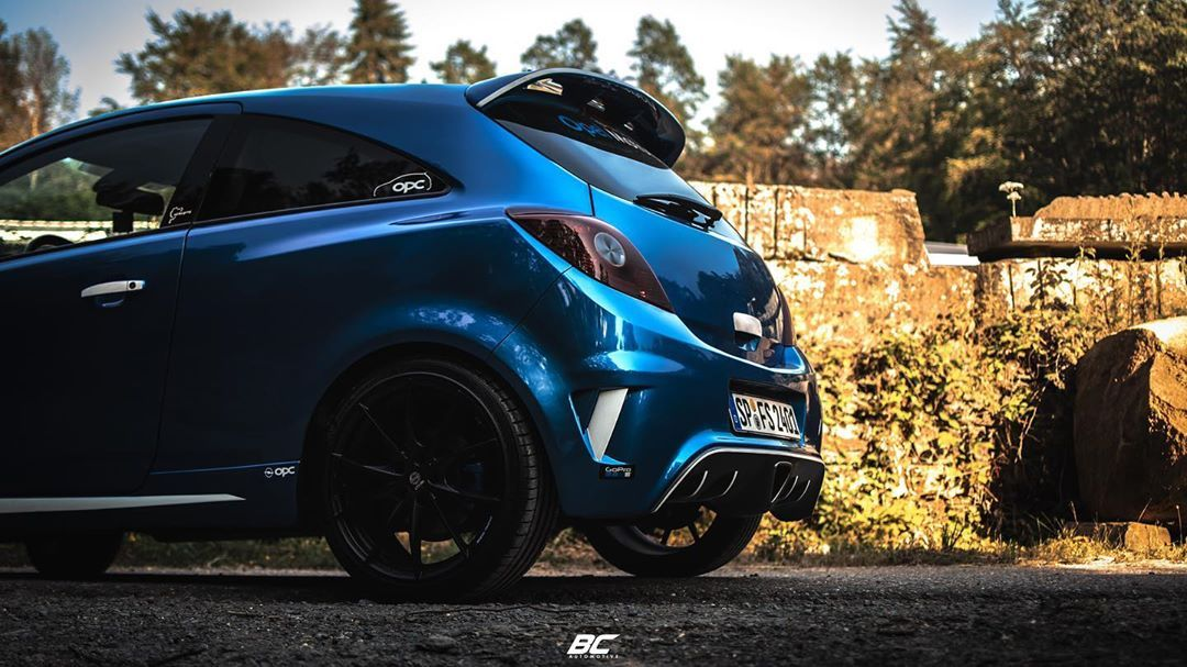 No 2 From The Blue Opc S Opel Corsa Opc Opel Corsa Opc Tuning Sportscar Street Cars Carlifestyle Black Opel Corsa Car Review Car