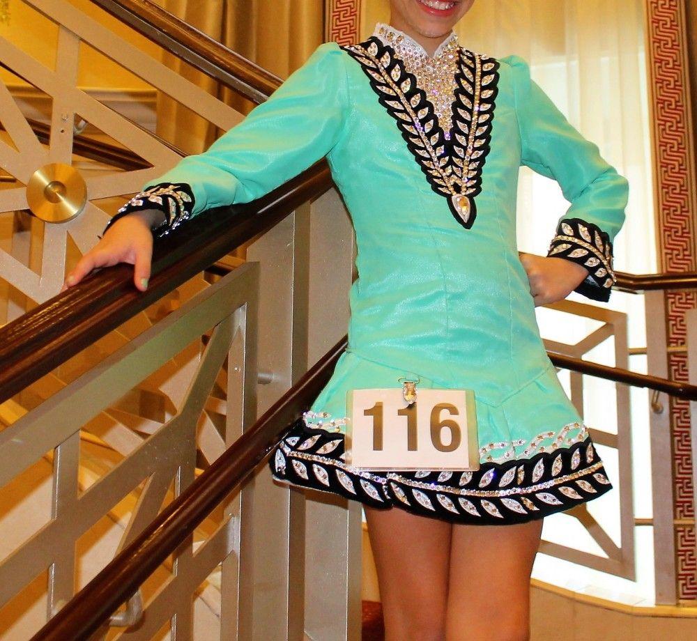 Striking Green Gavin Doherty Irish Dance Dress Solo Costume For Sale Irish Dancing Dresses Solo Dress Irish Solo Dress