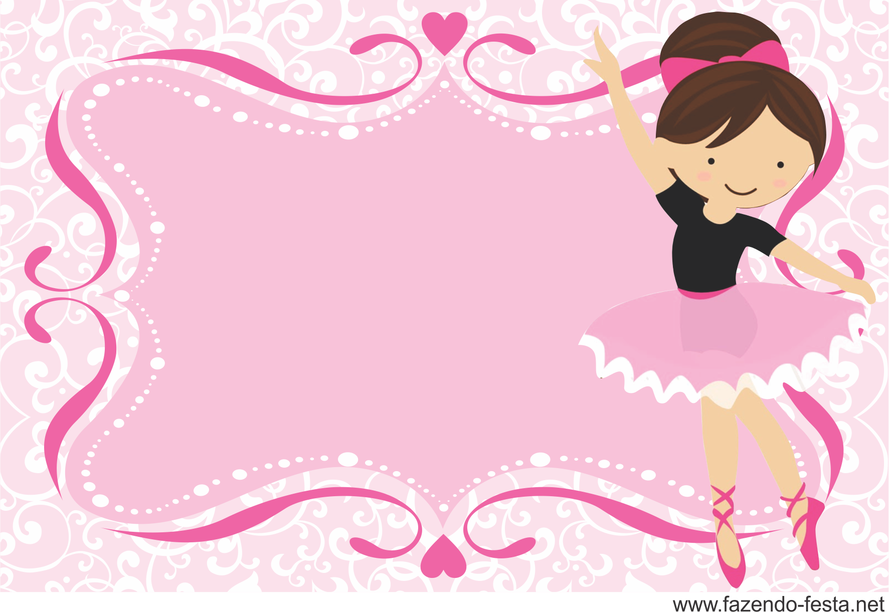 Kit Festa Bailarina Convite
