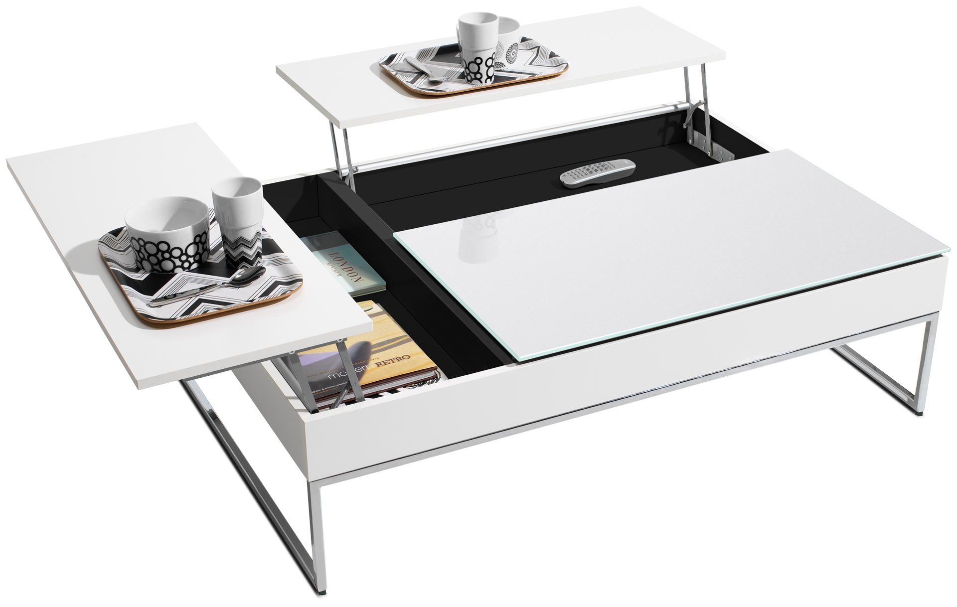 Ozzio Couchtisch E-motion Chiva Functional Coffee Table With Storage 1 195 Home