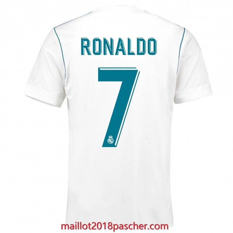 2e335e95ca5 Maillot de foot Ronaldo 7 Real Madrid 2017 2018 Domicile pas cher ...